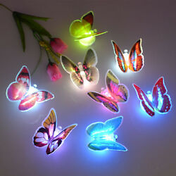 New 7 Colors Changing Butterfly LED Night Light Lamp Room Wall Decor Gift $1.21