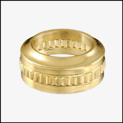 OIL LAMP BURNER #2 THREAD quot;FLUTED BANDquot; COLLAR SOLID BRASS NEW REPLACEMENT $4.98