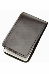 Police Black Leather Duty Memo Book Note Pad Holder Cover Case Sleeve 3quot;x5quot; $10.20
