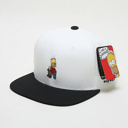 Unisex Mens The Simpsons Bart Skateboard Baseball Cap Snapback Hats White