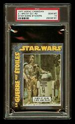 C3PO and R2D2 1977 Star Wars ADPAC General Mills Cereal Sticker PSA 10 CANADIAN