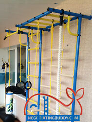 Indoor Sport Playground. Gym for Kids. Swedish Ladder rings trapeze rope ! Sale