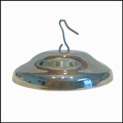 NEW ALADDIN LAMP STYLE NICKEL SMOKE BELL WITH HOOK for ALADDIN HANGING LAMPS $18.99