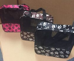 Pick Your Small Pattern Pet Carrier W Mesh Airing and Handles for Convenience $4.29
