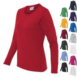 Gildan Ladies Heavy Cotton Missy Fit Long Sleeve T Shirt Womens Tee S 3XL 5400L $4.84