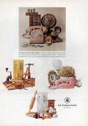 1964 Bell System PRINT AD Telephone Vintage Desk Wall Princess Dial Phone $9.99