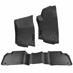 OEM Black Molded Rubber All Weather Floor Mat Set of 3 for Mercedes Benz New $279.22