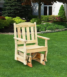 Pressure Treated Pine English Garden Chair Glider Amish Made USA-7 PAINT OPTIONS