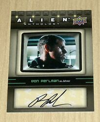2016 Upper Deck UD Alien Anthology autograph Ron Perlman as JOHNER SA-RP