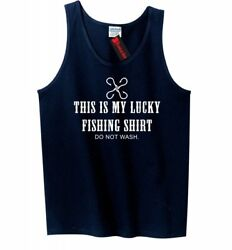 Lucky Fishing Shirt Funny Mens Tank Top Fish Dad Fathers Day Gift Sleeveless Z3 $8.99