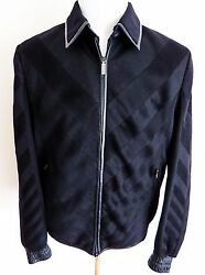 $13k NWT ZILLI 100% Cashmere with Lambskin Trim Jacket Coat Size 50 Euro Medium
