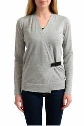 Tom Ford 100% Cashmere Gray Knitted Women's Wrapped Sweater Size XS S L XL