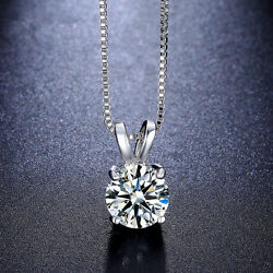 Fashion Womens Charm Jewelry Crystal Silver Plated Pendant Necklace Chain