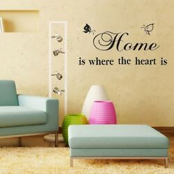 Home is the heart sticker wall Quote Removable Art Vinyl Decor Home Kids Au AU $15.99