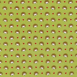 By 12 Yard Hedgehog Heaven Lime Green ~ Fox Woods Michael Miller Fabric animals