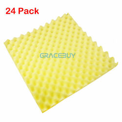 24Pcs Acoustic Soundproofing Foam Noise Absorption Ceiling Tiles Eggfoam Yellow