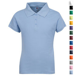 School Uniforms For Girls Collar Polo Shirt Size 3 4 18 20 All Colors NWT $12.99