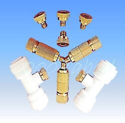 Brass Misting Nozzles for Garden Patio Cooling System 0.2 ~ 1.0 mm orifice 1024