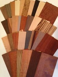 Wood Veneer variety pieces pack 20 square feet Artist craft exotic Marquetry box $13.99