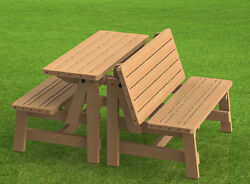 Convertible Benches to Picnic Table Combination Building Plans