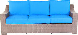 Patio Resorts Lifestlyes Inc. Tahiti Collection Deep Sofa with Cushions