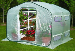 Deep Pop-Up Greenhouse Screened Vent Floorless Collapsible Growing Structure NEW
