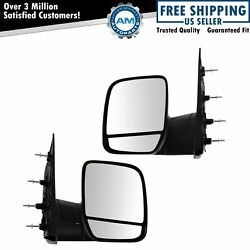 Folding Manual Side View Mirrors Left & Right Pair Set for 02-08 Econoline Van $65.40
