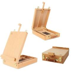 Portable Beech Art Drawing Painting Supply Desktop Table Easel Wooden Sketch Box