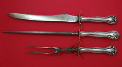 Raleigh by Alvin Sterling Silver Roast Carving Set 3pc HHWS