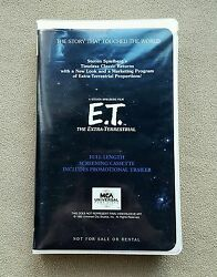 E.T. The Extra-Terrestrial Promotional Screening Trailer VHS