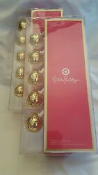 SET of 2 NIB Lilly Pulitzer for Target Gold Ball String Lights Indoor Outdoor