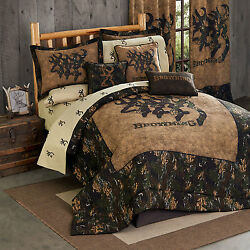 Browning® 3D Buckmark Comforter Set or Bed n Bag w Sheets~4 Sizes Hunting Cabin
