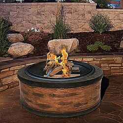 Wood Burning Fire Pit Outdoor Rustic Wood Fireplace Backyard Deck Patio Heater