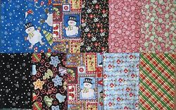 quot;JOLLY HOLIDAYquot; for In the Beginning fabrics 11 Fat Quarters 100% Cotton Quilt $19.99