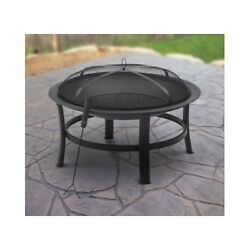 Patio Fire Pit Outdoor Firepit Backyard Garden Portable Fireplace Wood Burning