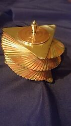 Otar Machine Age Art Deco Mixed Metal Lidded Box Brass and Copper