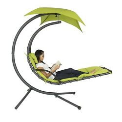 Hammock Lounge Chair Patio Yard  Hanging Canopy Pool Porch Outdoor Chaise Swing