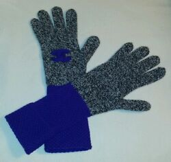 CHANEL 100% cashmere gloves bluegray one size NWT free shipping!