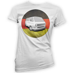German Wedge Womens T-Shirt x14 Colours Gift Present Camper Classic Bus T3 T25 $18.73