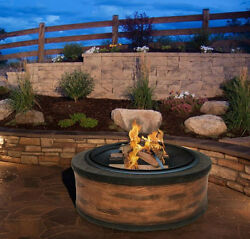 Best Outdoor Fireplace Kit Stone Wood Burning Round Pit Tool Garden Patio Heater