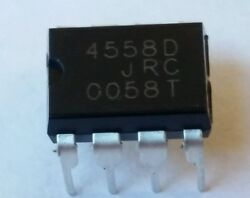 4 pcs JRC4558D and 4 Dip 8 Sockets replaces LM4558 RC4558***USA seller*** $4.50