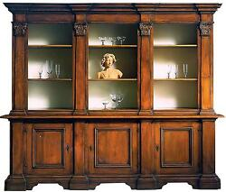 OPEN BOOKCASE DAVID MICHAEL RUSTIC 3-SECTION SECTIONED NEW DM-262
