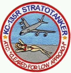 USAF PATCH KC 135 STRATOTANKER BLOND IN RED BIKINI ON BEACH Y $12.95