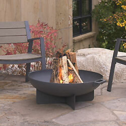 Real Flame Anson Outdoor Patio Deck Wood Burning Fire Pit Fire Bowl 2 Colors