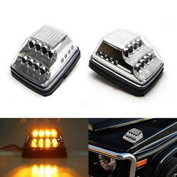 Clear Lens Amber LED Turn Signal Lamps w White LED For Mercedes W463 G-Class $100.09