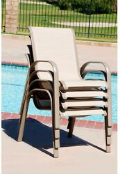 Patio Dining Chairs Commercial Contract Grade Sling 4Pack Outdoor Furniture Seat