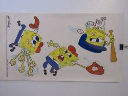 NEW NICKELODEON SPONGE BOB SQUARE PANTS WALL 10 STICKERS TOTAL GOING FAST $5.91