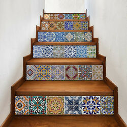 Stairs decals 3D Creative Tile Stickers for bathroom Decals murals backsplash