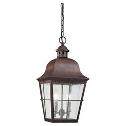 Sea Gull Lighting Colonial Copper Outdoor Hanging Lantern - 6062-44