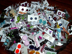 WHOLESALE LOT OF ** 200 PAIRS ** STUD EARRINGS ALL NEW FASHION JEWELRY